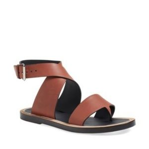 Vince Mailin Wrap Sandals Whiskey Color 7